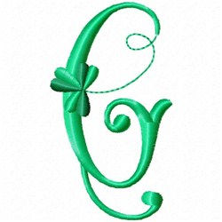 Shamrock Monogram G embroidery design