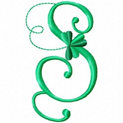 Shamrock Monogram S embroidery design