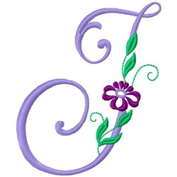 Floral Monogram Font I embroidery design