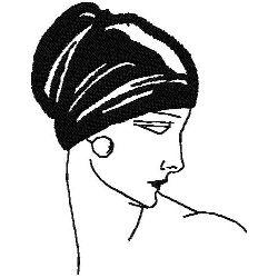 Art Deco Headtess Fashion embroidery design