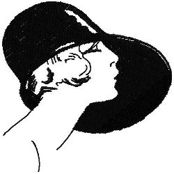 Art Deco Hat Fashion 3 embroidery design