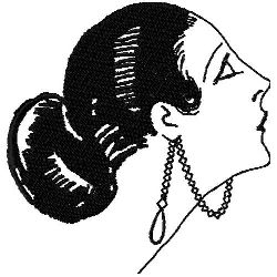 Art Deco Hair Fashon 4 embroidery design
