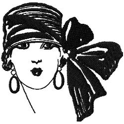 Art Deco Hat Fashion 8 embroidery design