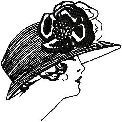 Art Deco Hat Fashion 9 embroidery design