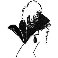 Art Deco Hat Fashion 10 embroidery design