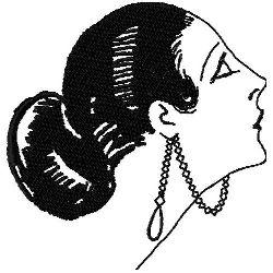 Art Deco Hair Fashon 4 embroidery design