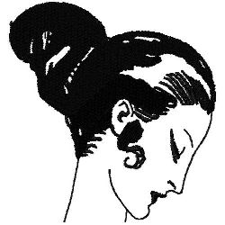 Art Deco Hairstyle 7 embroidery design