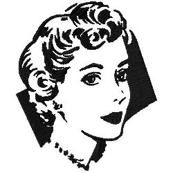 Vintage Hairstyle embroidery design