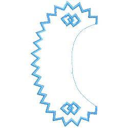 Collar embroidery design