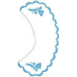 Collar embroidery design