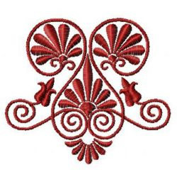 Triple Swirl embroidery design