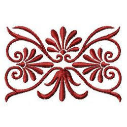 Oblong Swirl embroidery design