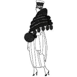 Art Deco Lady embroidery design
