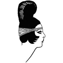 Art Deco Hairstyle embroidery design
