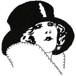 Art Deco Top Hat embroidery design