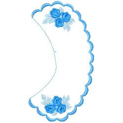 Floral Collars embroidery design