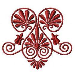 Triple Swirl embroidery design