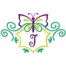 Monogram Butterfly I embroidery design