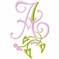 Monogram Floral A embroidery design