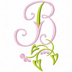 Monogram Floral B embroidery design