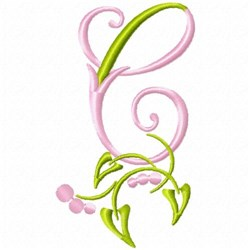 Monogram Floral C embroidery design