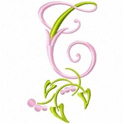 Monogram Floral T embroidery design