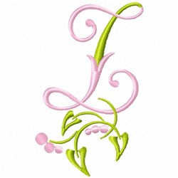 Monogram Floral Z embroidery design