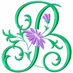 Monogram Flower B embroidery design