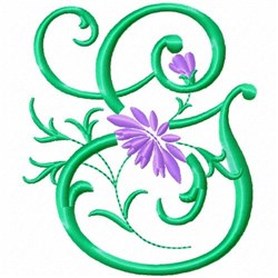 Monogram Flower G embroidery design