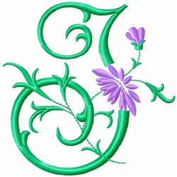 Monogram Flower I embroidery design