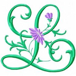 Monogram Flower L embroidery design