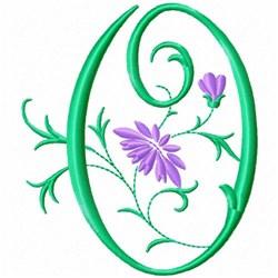 Monogram Flower O embroidery design