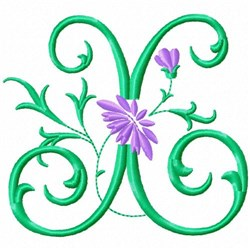 Monogram Flower X embroidery design