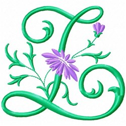 Monogram Flower Z embroidery design