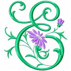 Monogram Flower E embroidery design