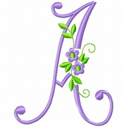Monogram Flower A embroidery design