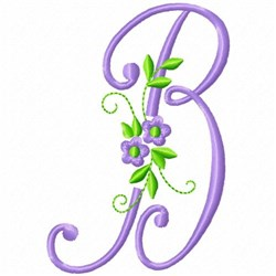 Monogram Flower B embroidery design