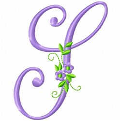 Monogram Flower S embroidery design