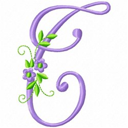 Monogram Flower T embroidery design
