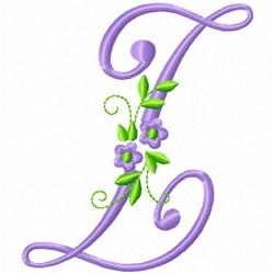 Monogram Flower Z embroidery design