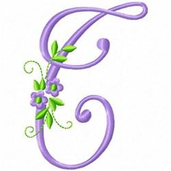 Monogram Flower T embroidery design