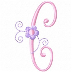 Monogram Floret C embroidery design