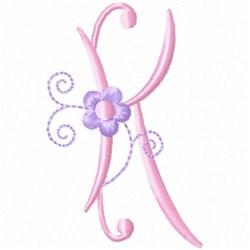 Monogram Floret K embroidery design
