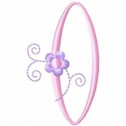 Monogram Floret O embroidery design