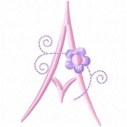 Monogram Floret A embroidery design