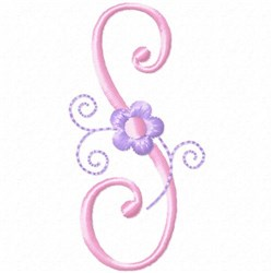 Monogram Floret S embroidery design