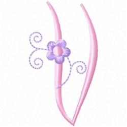 Monogram Floret V embroidery design