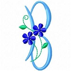 Monogram Blossom B embroidery design