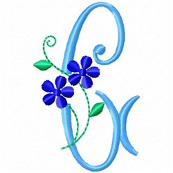 Monogram Blossom G embroidery design