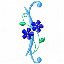 Monogram Blossom I embroidery design